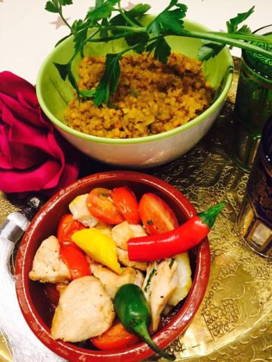 Linsen-Hähnchen-Curry